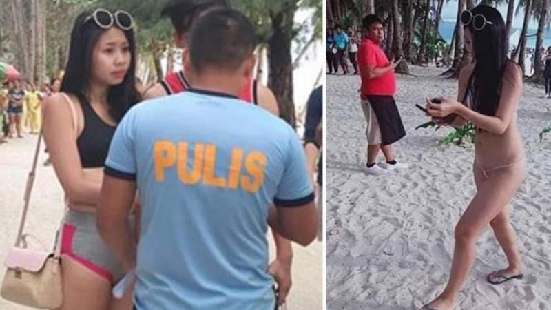 Filipinler'de bir kadın giydiği bikini nedeniyle gözaltına alındı